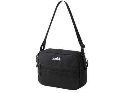 X-Girl Mills Logo Adventure Shoulder Bag Blackの写真