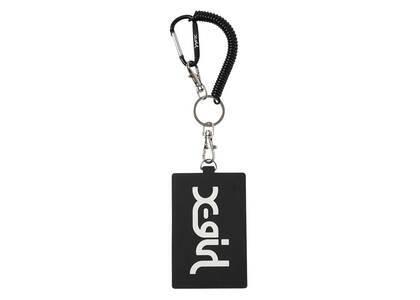 X-Girl Mills Logo Rubber Pass Case Blackの写真