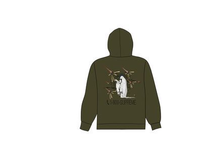 Supreme 1-800 Hooded Sweatshirt Dark Oliveの写真