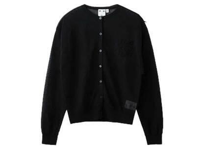 X-Girl Sheer knit Cardigan Blackの写真
