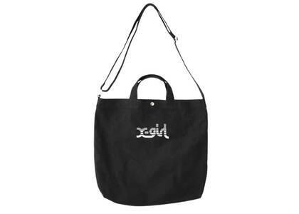 X-Girl Slice Logo 2way Tote Bag Blackの写真
