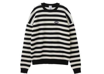X-Girl Stripe knit Top Blackの写真
