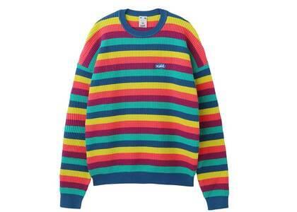 X-Girl Stripe knit Top Multiの写真