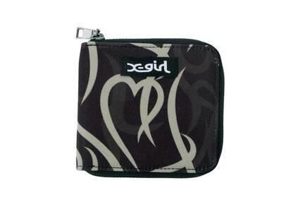 X-Girl Tribal Pattern Wallet Blackの写真