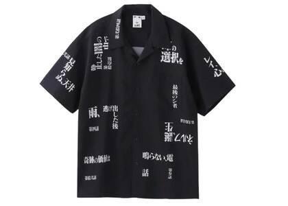 Evangelion × X-Girl Open Collar Shirt Blackの写真