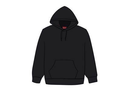 Supreme Rhinestone Script Hooded Sweatshirt Blackの写真