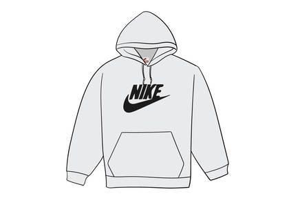 Supreme Nike Leather Applique Hooded Sweatshirt Whiteの写真