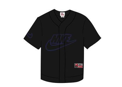 Supreme Nike Leather Baseball Jersey Blackの写真