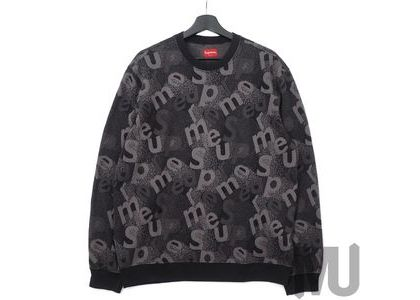 Supreme Scatter Text Crewneck Blackの写真