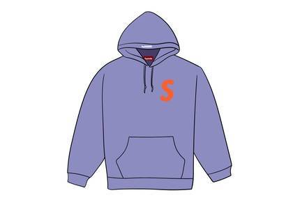 Supreme S Logo Hooded Sweatshirt (FW19) Light Violetの写真