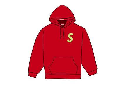 Supreme S Logo Hooded Sweatshirt (FW19) Redの写真