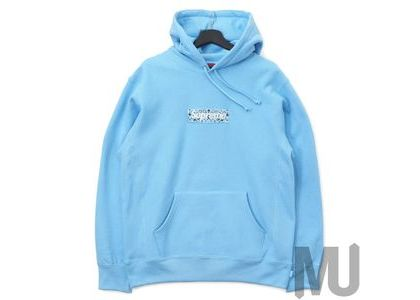Supreme Bandana Box Logo Hooded Sweatshirt Light Blueの写真