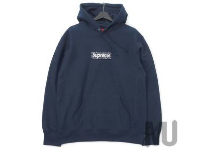 Supreme Bandana Box Logo Hooded Sweatshirt Navyの写真