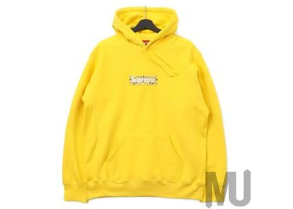 Supreme Bandana Box Logo Hooded Sweatshirt Yellowの写真