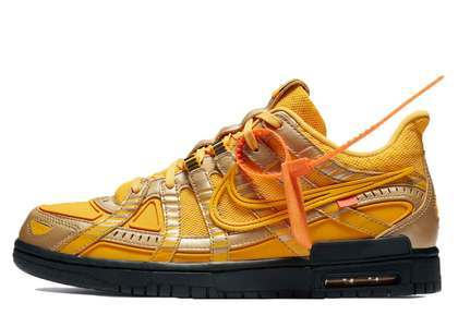 Off-White × Nike Air Rubber Dunk University Goldの写真