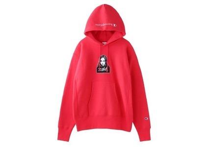 Champion ×  Reverse Weave × X-Girl Sweat Hoodie Redの写真