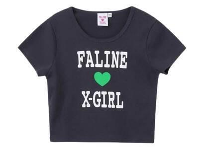 Faline × X-Girl S/S Baby Tee Charcoalの写真