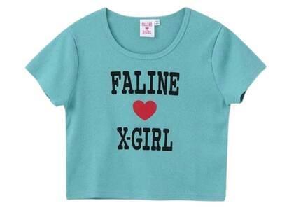 Faline × X-Girl S/S Baby Tee Light Blueの写真