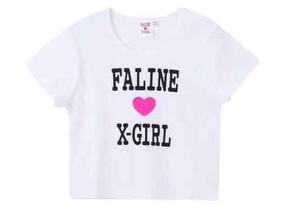 Faline × X-Girl S/S Baby Tee Whiteの写真