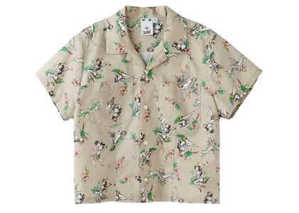 Faline Girls × X-Girl Aloha Shirt Beigeの写真