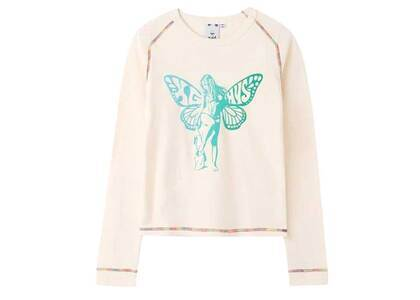 Hysteric Glamour × X-Girl Butterfly Baby L/S Tee Whiteの写真
