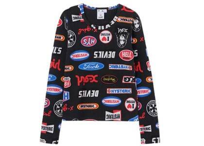 Hysteric Glamour × X-Girl Thermal L/S Tee Blackの写真