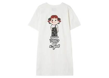 X-Girl × Peko S/S Tee Dress Whiteの写真