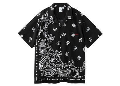 X-Girl Bandana Open Collar S/S Shirt Blackの写真
