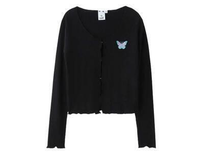 X-Girl Butterfly Cardigan Blackの写真