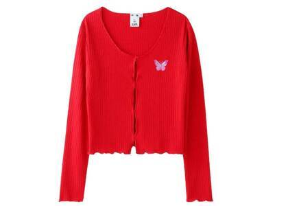 X-Girl Butterfly Cardigan Redの写真