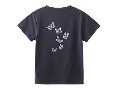 X-Girl Butterfly S/S Baby Tee Blackの写真