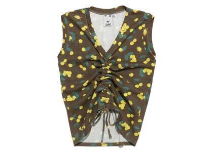X-Girl Cherry Shirred Tank Top Yellowの写真