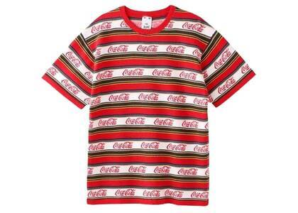 X-Girl Coca-Cola Striped S/S Tee Redの写真