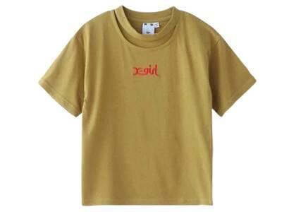 X-Girl Cutout Neckline S/S Baby Tee Khakiの写真