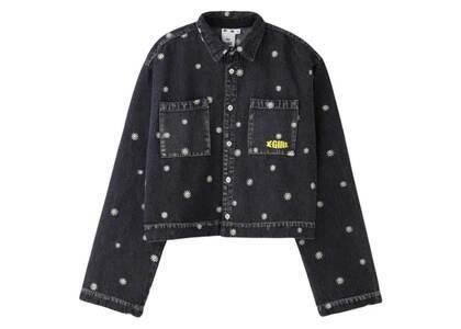 X-Girl Daisy Embroidery Shirt Blackの写真