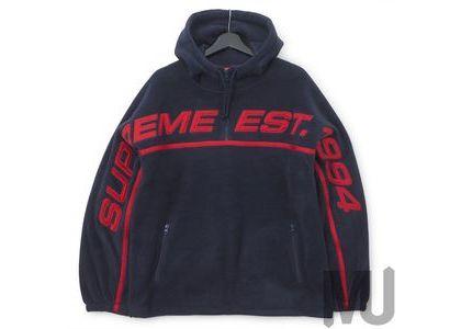 Supreme Polartec Half Zip Hooded Sweatshirt Navyの写真