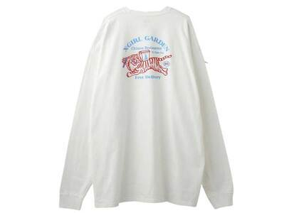 X-Girl Delivery L/S Tee Dress Whiteの写真