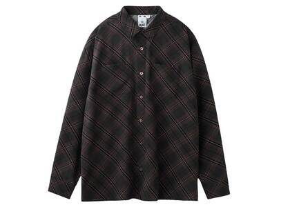 X-Girl Diamond Plaid Shirt Blackの写真