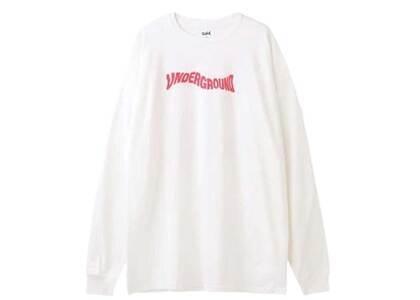 X-Girl Distorted Logo L/S Tee Dress Whiteの写真