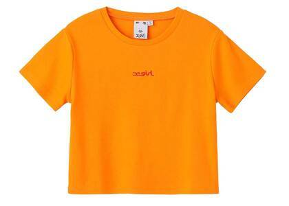 X-Girl Embroidered Mills Logo S/S Baby Tee Orangeの写真