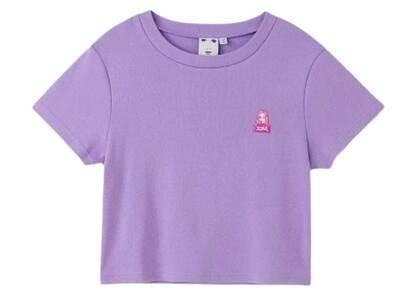 X-Girl Face Compact S/S Tee Light Purpleの写真