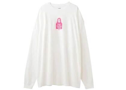 X-Girl Face L/S Tee Dress Whiteの写真