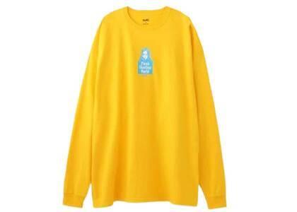 X-Girl Face L/S Tee Dress Yellowの写真
