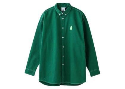 X-Girl Face Twill Shirt Greenの写真