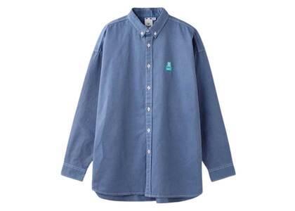 X-Girl Face Twill Shirt Light Blueの写真