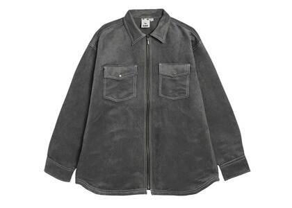 X-Girl Faux Suede L/S Shirt Blackの写真