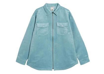 X-Girl Faux Suede L/S Shirt Light Blueの写真