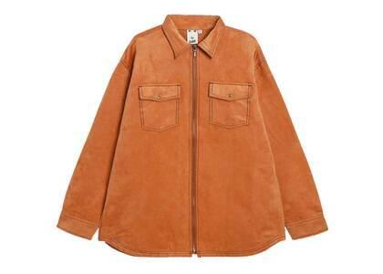 X-Girl Faux Suede L/S Shirt Orangeの写真