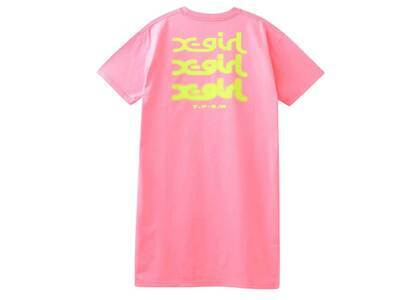 X-Girl Glow Logo S/S Tee Dress Pinkの写真