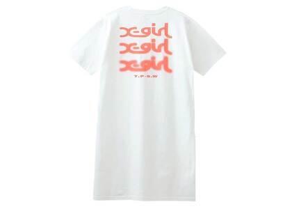 X-Girl Glow Logo S/S Tee Dress Whiteの写真